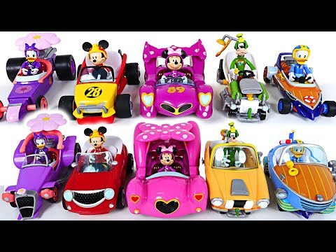 Mickey and the Roadster Racers Toys! Let's play with Pororo to see who's fastest - PinkyPopTOY