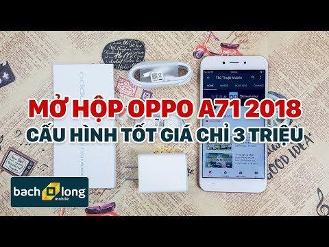 Mở hộp Oppo A71 2018 – Camera AI, chip Qualcomm 450 và nhiều cải tiến