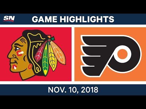 NHL Highlights | Blackhawks Vs. Flyers – Nov. 10, 2018