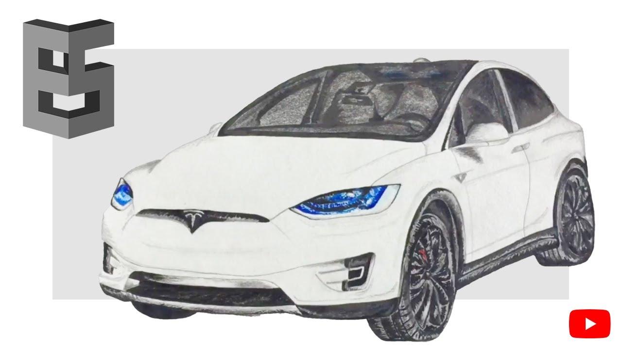 Drawing Tesla Model X Youtube
