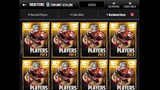madden nfl 16 mobile gameplay players pack bundle opening topper w 1 elite season veteran