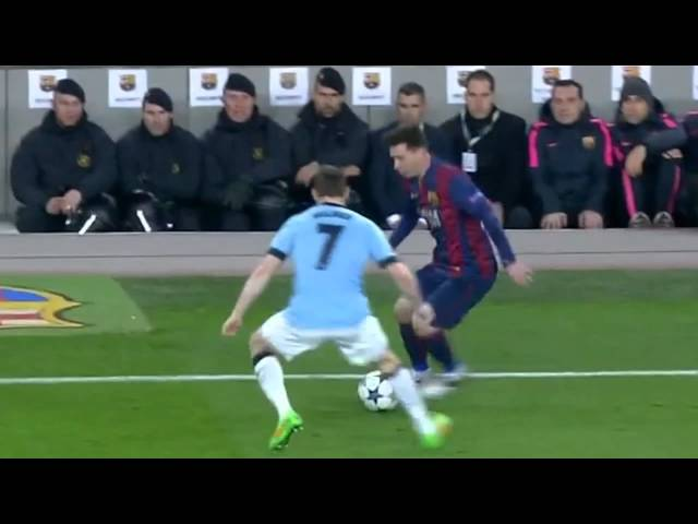 Lionel Messi • Amazing Nutmeg vs Manchester City (720p)