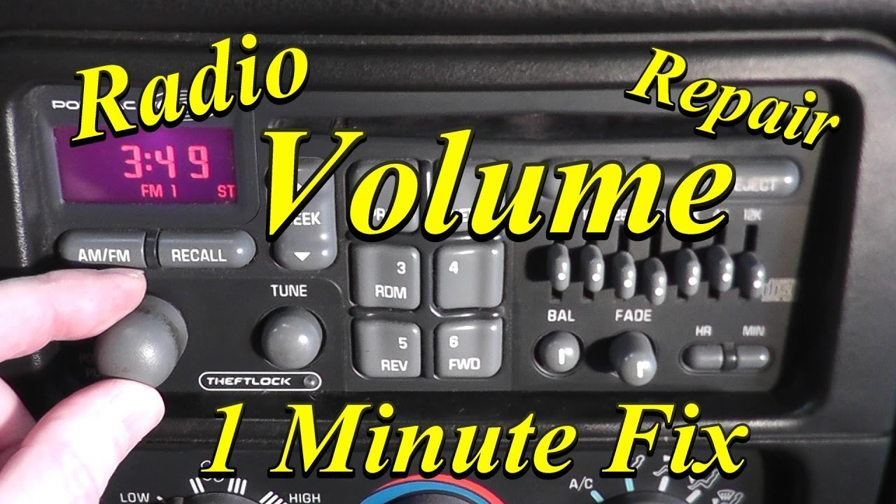 Radio Volume Repair Simple Easy And Fast