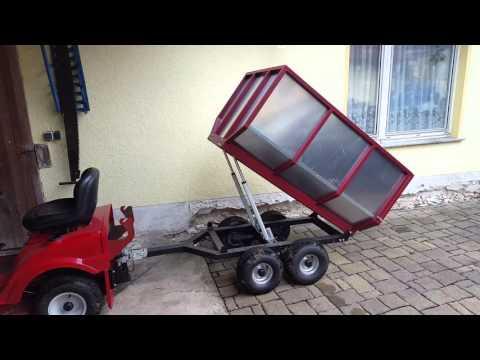 trailer f r rasentraktor eigenbau details doovi. Black Bedroom Furniture Sets. Home Design Ideas