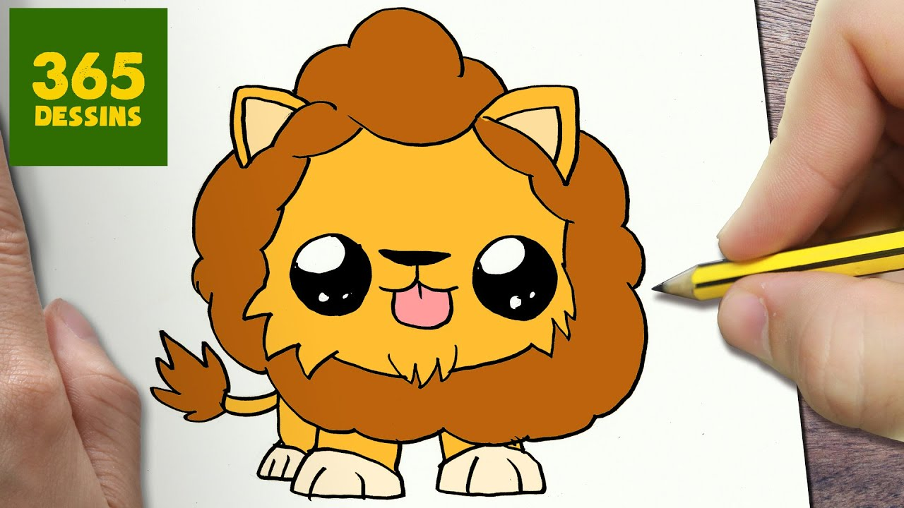 Comment Dessiner Lion Kawaii étape Par étape Dessins Kawaii Facile
