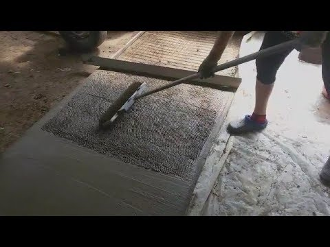 Декоративный бетон своими руками видео