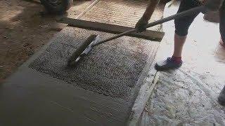 Декоративный бетон своими руками Ч 2