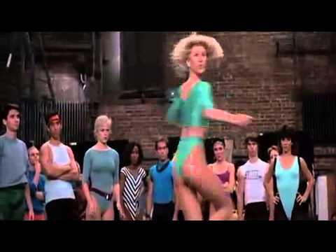 A chorus line audition scene