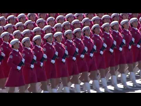 China PLA women Army National Day Parade 2009 中华人民共和国 60 周年 女戰