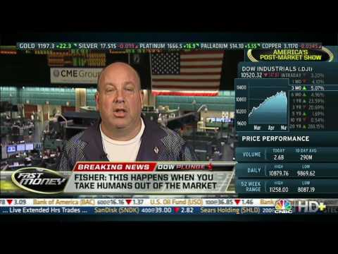 CNBC, 05/06/10, Another plunge in the stock market will happen says Mark Fisher (Dow 10,520)