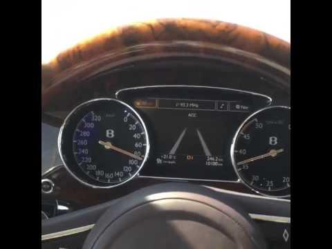 Bentley Mulsanne acceleration 2015