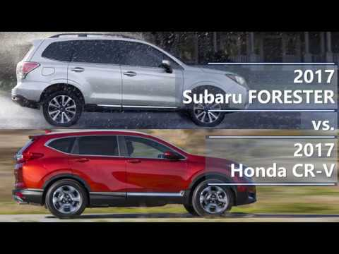 2017 subaru forester vs 2017 honda cr v technical for Honda crv vs subaru forester