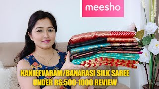 Meesho Traditional Silk Saree,Kanjeevaram Silk, Banarasi Silk Saree Review Start Rs-559 Only #meesho screenshot 3