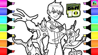 Ben 10 Coloring Book Pages I Fun Colouring pages for kids
