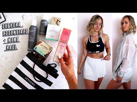sephora makeup essentials + nike haul!! thumbnail