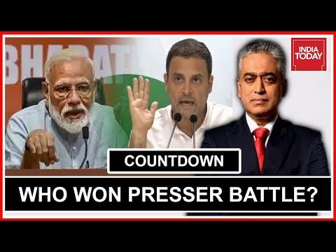 PM Modi Vs Rahul Gandhi, Who Won Presser Battle? | Countdown With Rajdeep Sardesai