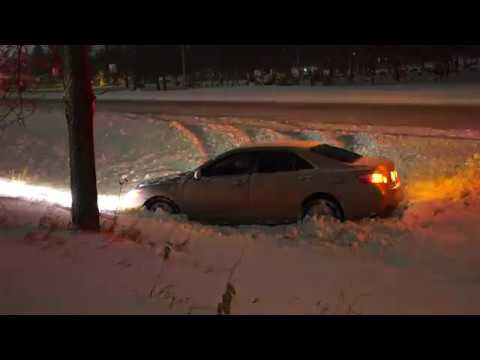 Winter Storm With Numerous Crashes In Saint Cloud, MN - 11/30/2019