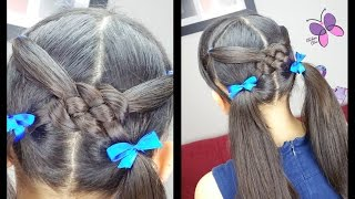 Celtic Knot Pigtails | Hairsties for School | Hairstyles for Girls