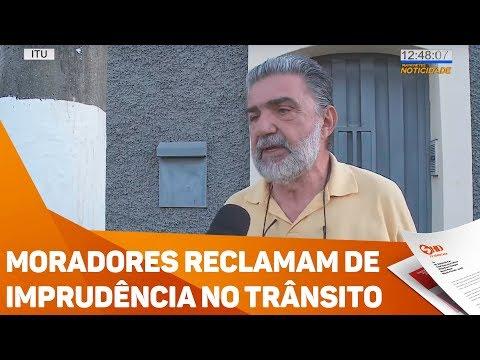 Moradores reclamam de imprudência no trânsito - TV SOROCABA/SBT