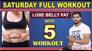 Lose Belly Fat with 5 Workout / Home Workout / Saturday / Home workout