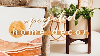 Diy Boho Upcycle Home Decor   Easy Textured Ceramic Look, Boho Wall Art, Plant Stands