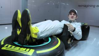 F1 BACKSTAGE #5  Driving position by Nico Rosberg