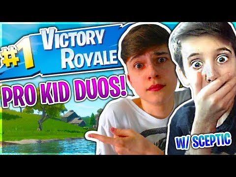 DUOS WITH A PRO 14 YEAR OLD SCEPTIC (PRO KID DUOS)! | 🔥 Fortnite Battle Royale Live 🔥