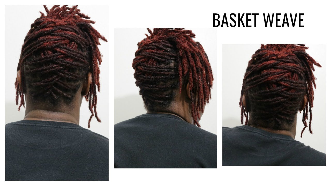 How To Basket Weave On Short Locs Hairstyle Youtube