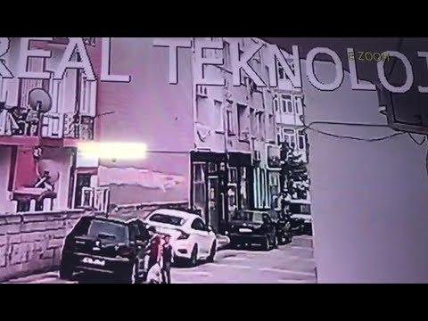 3 Yaşındaki Çocuğun Düşme Anı Güvenlik Kamerasına Yansıdı