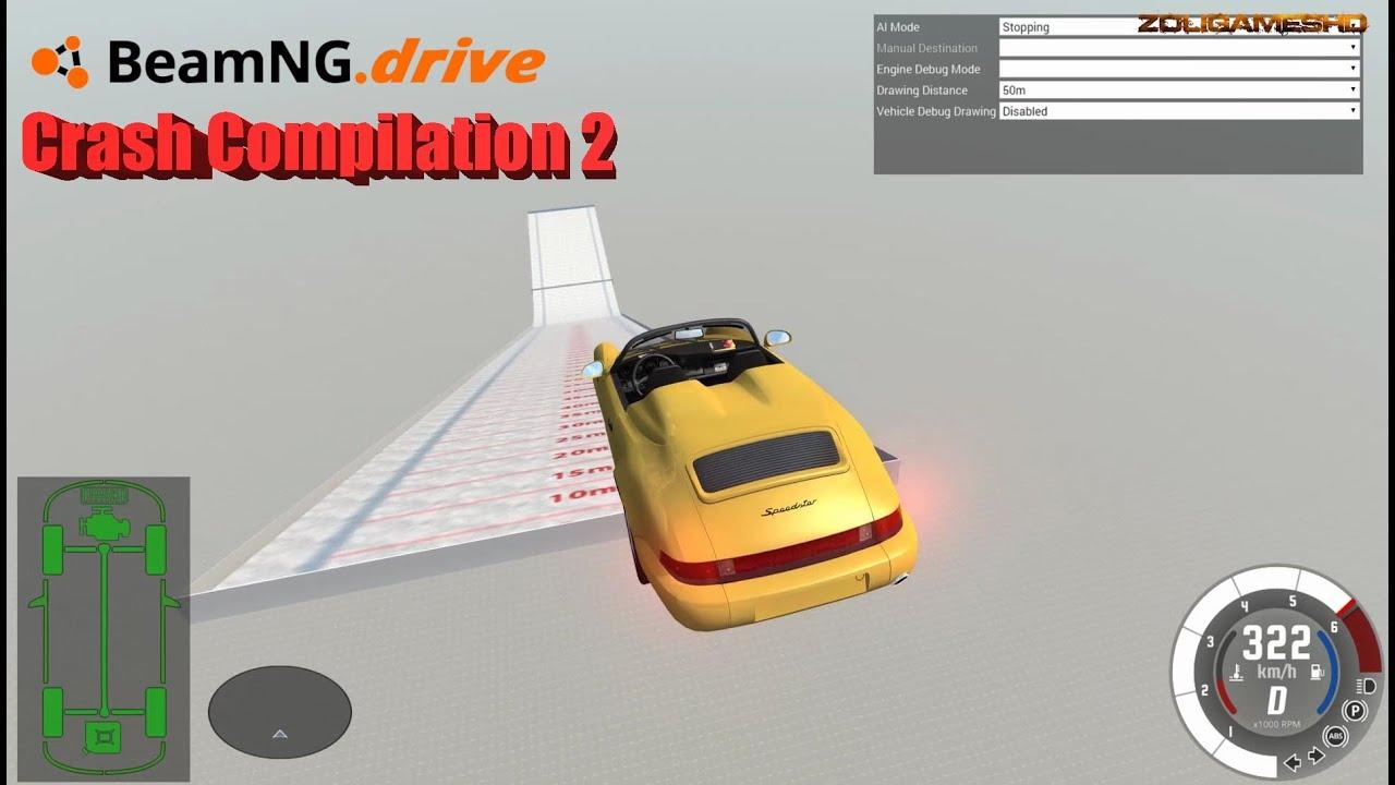 Beamng Drive Ski Jumping Cars Crash Compilation 2 Youtube