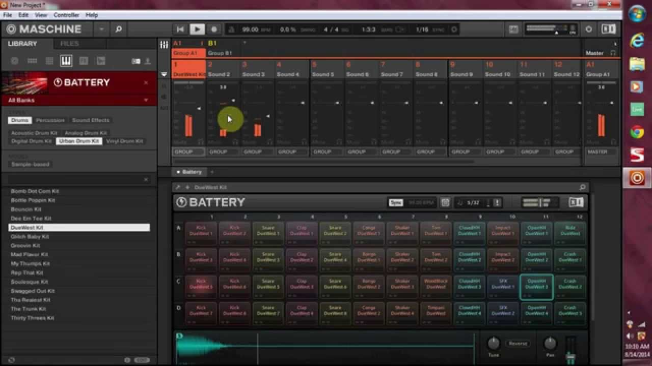 how to route ni battery 4 to pads in maschine 2 0 youtube