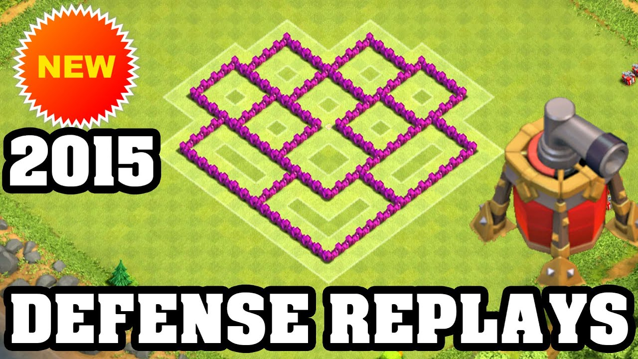 Clash of clans town hall 6 defense replay coc th6 best hybrid base