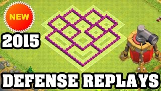 Clash of Clans Town Hall 6 Defense + REPLAY (CoC TH6) BEST Hybrid Base Layout Defense Strategy