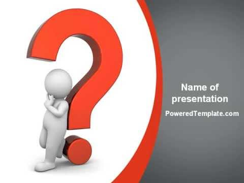 Question Mark PowerPoint Template by PoweredTemplate.com ...