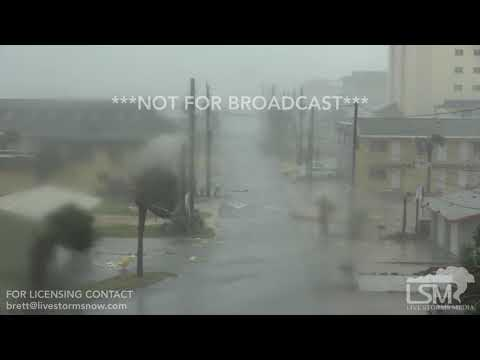 10/10/2018 Panama City Beach, Florida Hurricane Michael Rips Houses Apart *stock*