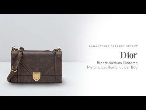 Banananina Product Review: Dior Medium Diorama Flap Bag Bronze