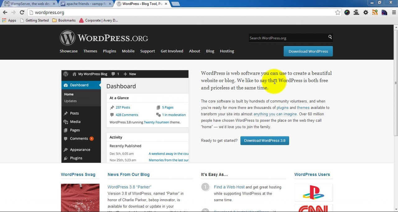 How to Install WordPress on Windows 7 - Step by Step Guide to Install WordPress 3.8
