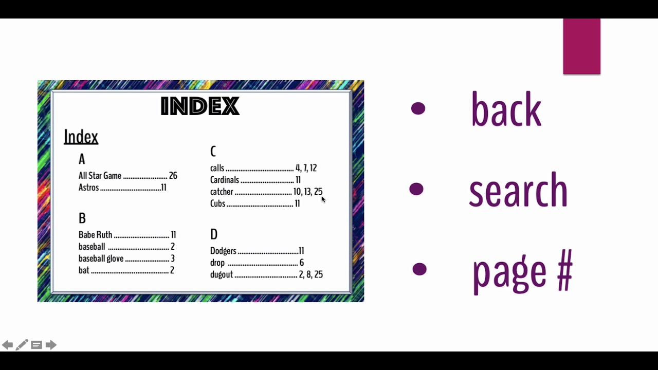 hight resolution of Text Features for Kids: Navigators - YouTube
