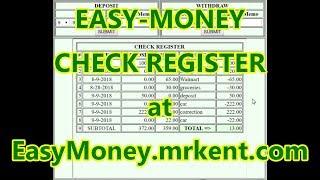 EASY-MONEY CHECK REGISTER