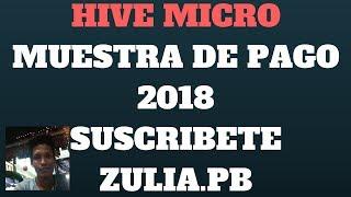 HIVE MICRO O  HIVE WORK  MUESTRA DE PAGO 2018