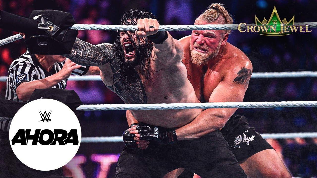Download Roman Reigns ESTAFÓ a Brock Lesnar en Crown Jewel: WWE Ahora, Oct 21, 2021