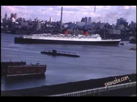 RMS Queen Elizabeth Departs New York for the Final Time in 1968