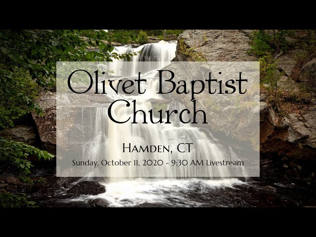 Sunday Morning Service, October 11, 2020