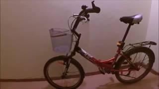 замена ригидной вилки на пружинно  эластомерную, на складном велосипеде