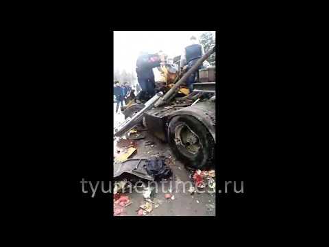 Первые минуты ДТП Тюмень-Ханты-Мансийск, 800 км., Пойковский 05-03-2019 МАТ 18+
