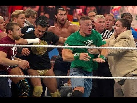 John Cena And Brock Lesnar Brawl After John Laurinaitis