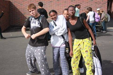 Image result for wearing pajamas in public