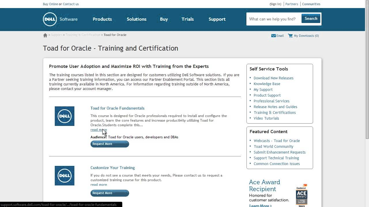 View Training And Certifications On The New Dell Software Support