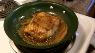 Lingcod Recipe -- Easy to Make Pan Seared and Potato Chip and Pecan Crusted Lingcod Recipe