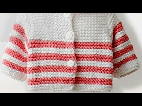 c22d1a0b70500 Easy new born babies sweater design for beginners in hindi Simple sweater  design Design-183